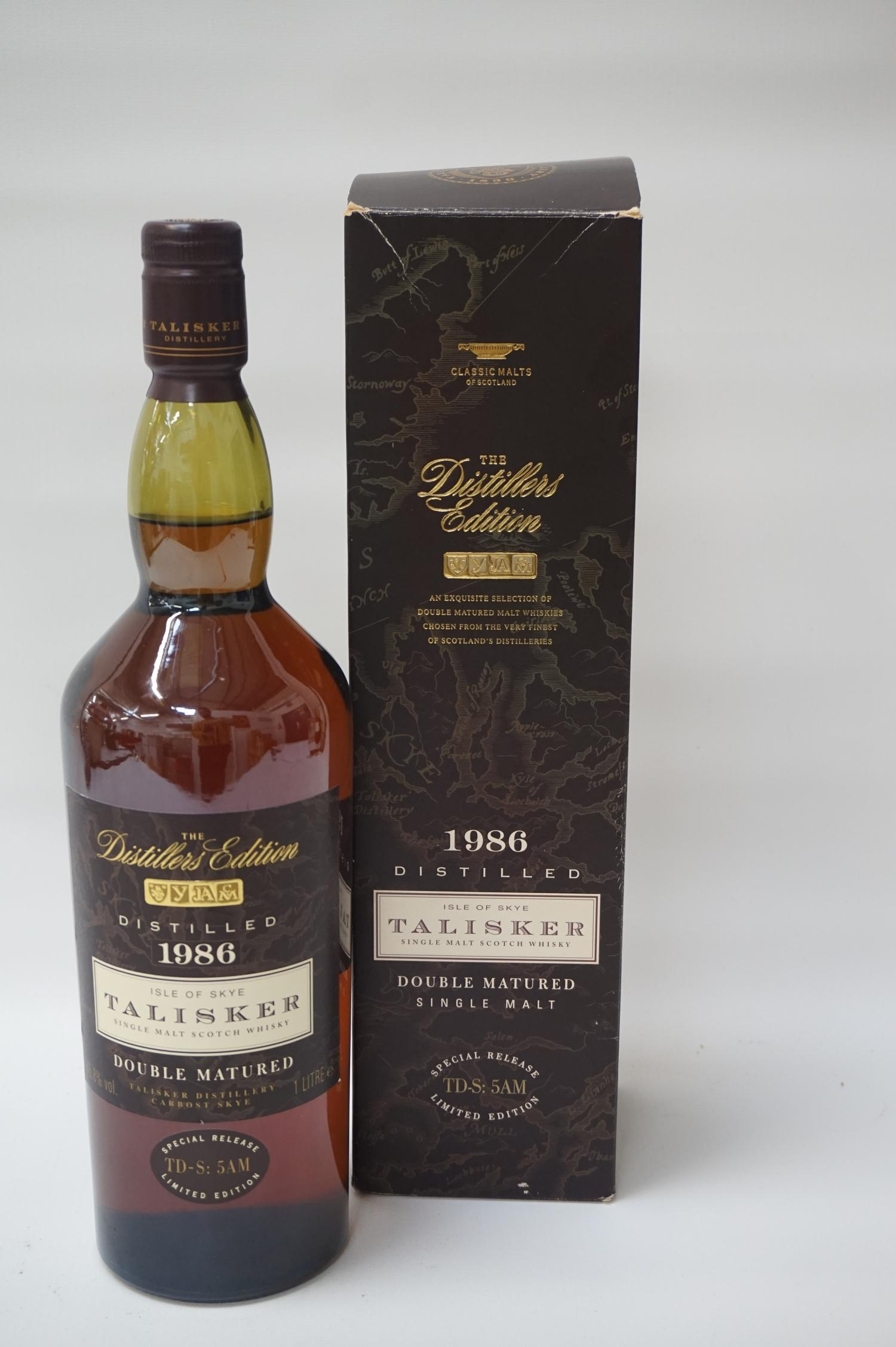 TALISKER DISTILLERS EDITION 1986 This bottle highlights how finishing a whisky in particular casks