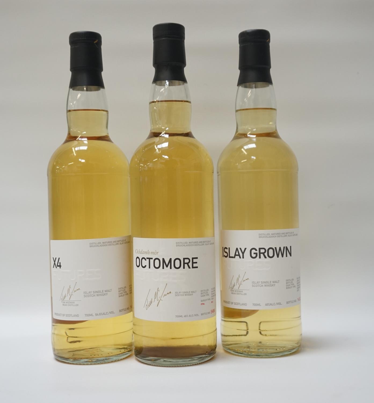 THREE BOTTLES OF BRUICHLADDICH FUTURES A selection of bottles from the Bruichladdich Futures