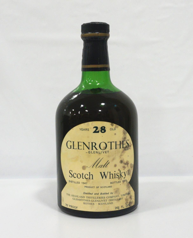 GLENROTHES-GLENLIVET 28YO An extremely rare bottle of Glenrothes-Glenlivet Single Malt Scotch Whisky