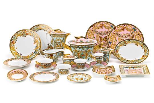 A Rosenthal porcelain \ Butterfly Garden\  crockery for twelve services designed by Gianni Versace  sc 1 st  The Saleroom & A Rosenthal porcelain \