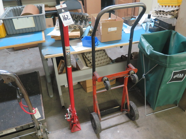 Lot 162 - Automotive Jack and Hand Dolly