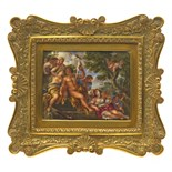 λ After Luca Giordano Hercules and Omphale In a gilt metal frame 75 x 93mm