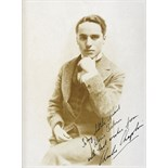 Charlie Chaplin. A black and white photograph c.1917 inscribed 'To my little friend Doris Tickner