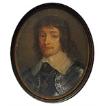 George Perfect Harding (1779-1843) Portrait miniature of James Duke of Hamilton; Oliver Cromwell