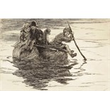 ‡ Eileen Alice Soper R.M.S. (1905-1990) A voyage of discovery Signed Etching, mounted unframed 12.