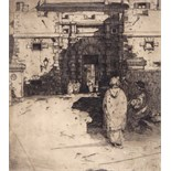 David Young Cameron (Scottish 1865-1945) The Gates of a City Signed Etching 19 x 16cm; 7½ x 6¼in