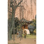 Hiroshi Yoshida (Japanese 1876-1950) The cherry tree in Kawagoe; Rainy day in Nikko; Night in