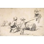 ‡ Eileen Alice Soper R.M.S. (1905-1990) The See-Saw, 1922 Etching, edition 314 11 x 17.5cm; 4¼ x 7in