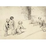 ‡ Eileen Alice Soper R.M.S. (1905-1990) Marbles, 1923 Signed Etching, edition 380, mounted, unframed