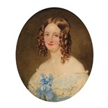 λ William Charles Ross (1794-1860) Portrait miniature of Eleanor Frances Johnstone, daughter of