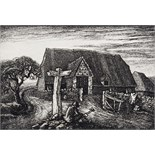 ‡ Robin Tanner (1904-1988) Wiltshire roadmaker Signed and numbered 3/50 Etching, unframed 10 x 15cm;