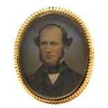 λ Wasse c.1861 Portrait miniature of a gentleman, head and shoulders Signed and dated 1861, gilt
