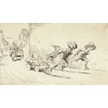 ‡ Eileen Alice Soper R.M.S. (1905-1990) The go-cart race Signed Etching, edition 322, mounted,