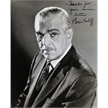 A collection of photographs and autographs comprising: Boris Karloff: a black and white