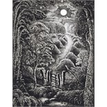 ‡ Robin Tanner (1904-1988) Full moon Signed and dated 74 Etching, unframed 24 x 18.5cm; 9½ x 7¼