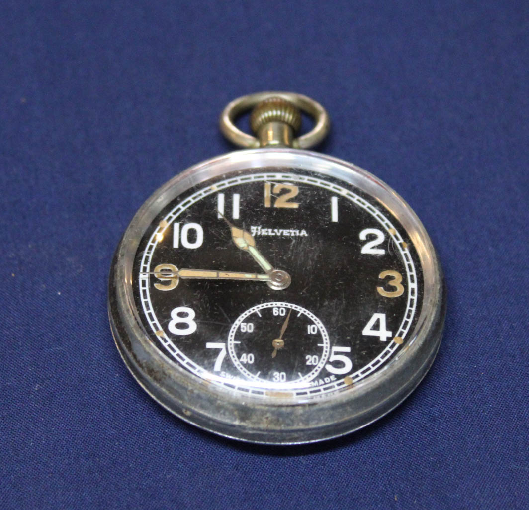 Lot 1187 - A Helvetia military WWII pocket watch