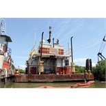 "SELF PROPELLED WORK BARGE, M/V JIM GALLOWAY, built 1973, 30' W. x 87' L., 5'8"" depth, steel hull,"