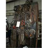 EYE BOLTS, CLEVIS HOOKS, LIFTING DEVICES ON RACK & IN BASKET ON FLOOR IN BASKET ON FLOOR