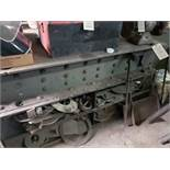 """64.5""""x70""""x5/8"""" METAL LAYOUT TABLE WITH CABINETS"""