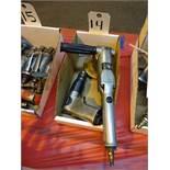 LOT: (1) Pneumatic Angle Grinder, (1) Pneumatic Drill