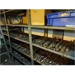 LOT: Assorted Reamers on (4) Shelves
