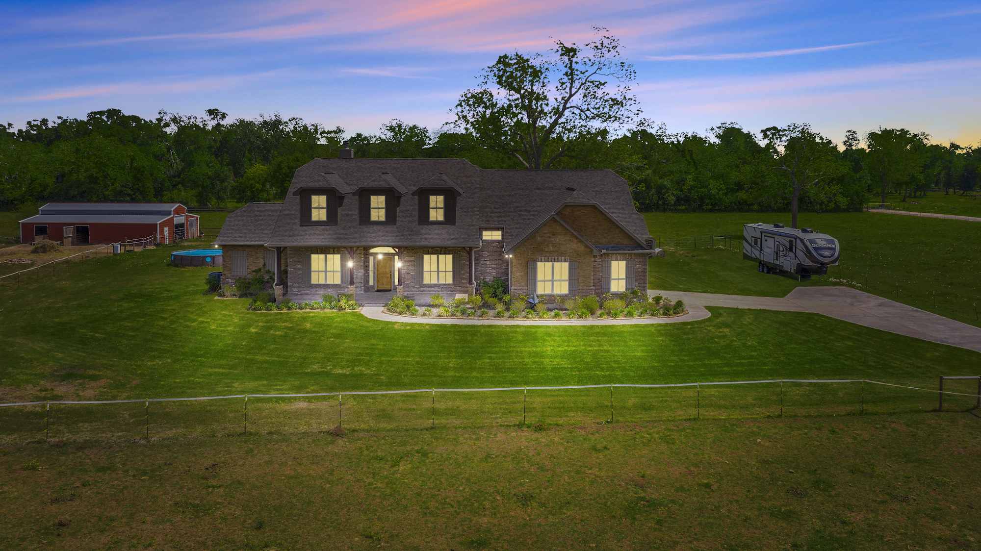 Custom Country Home with Acreage in Sealy - Image 2 of 46