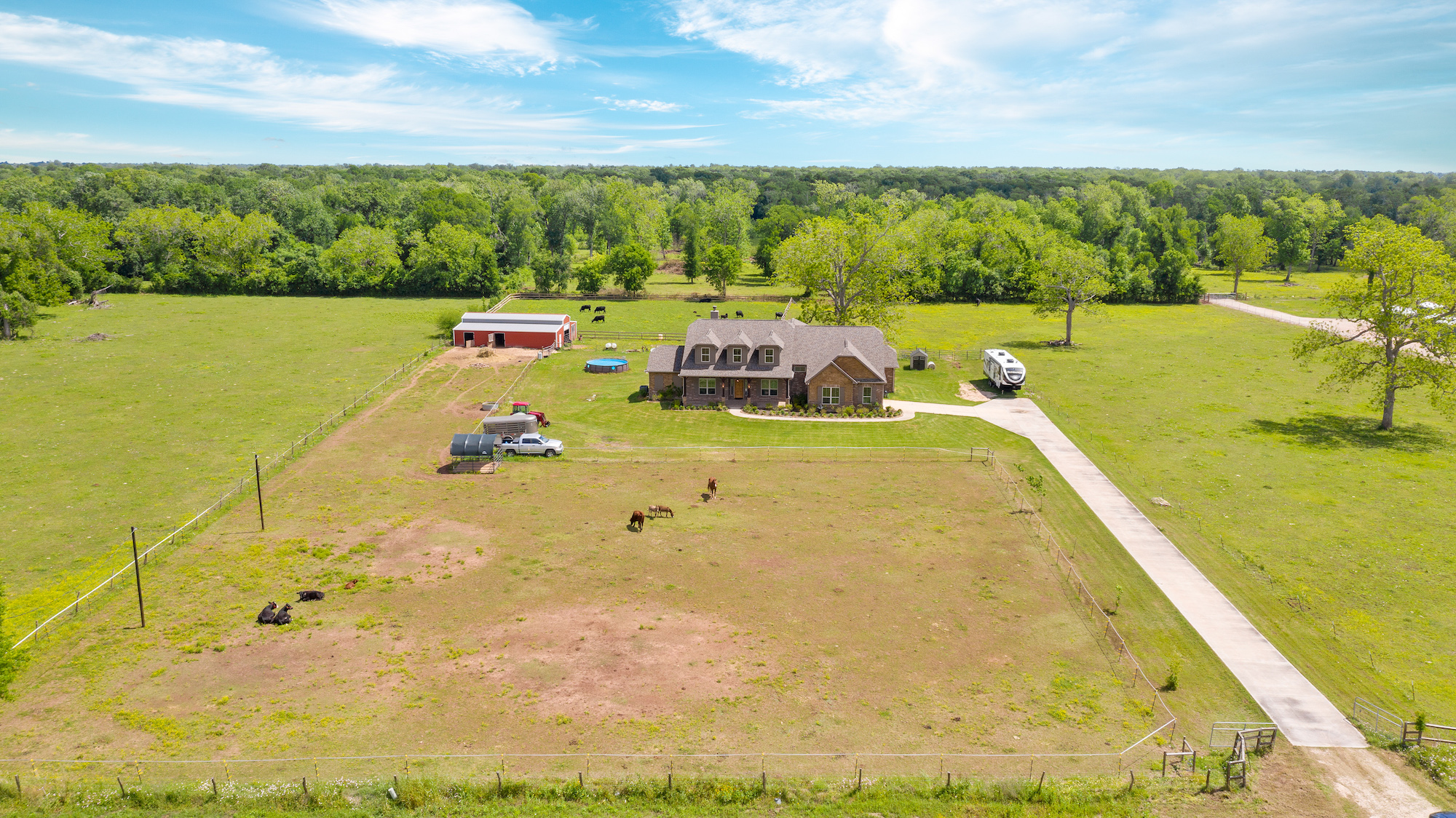 Custom Country Home with Acreage in Sealy - Image 4 of 46