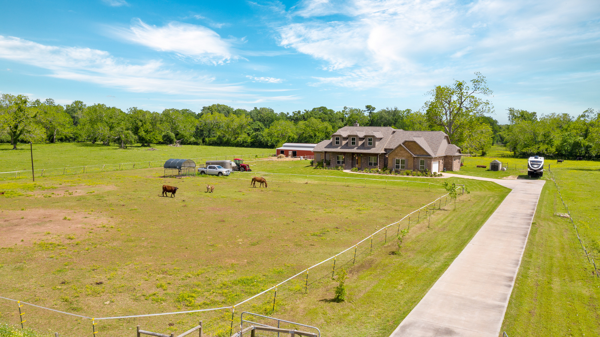 Custom Country Home with Acreage in Sealy - Image 3 of 46