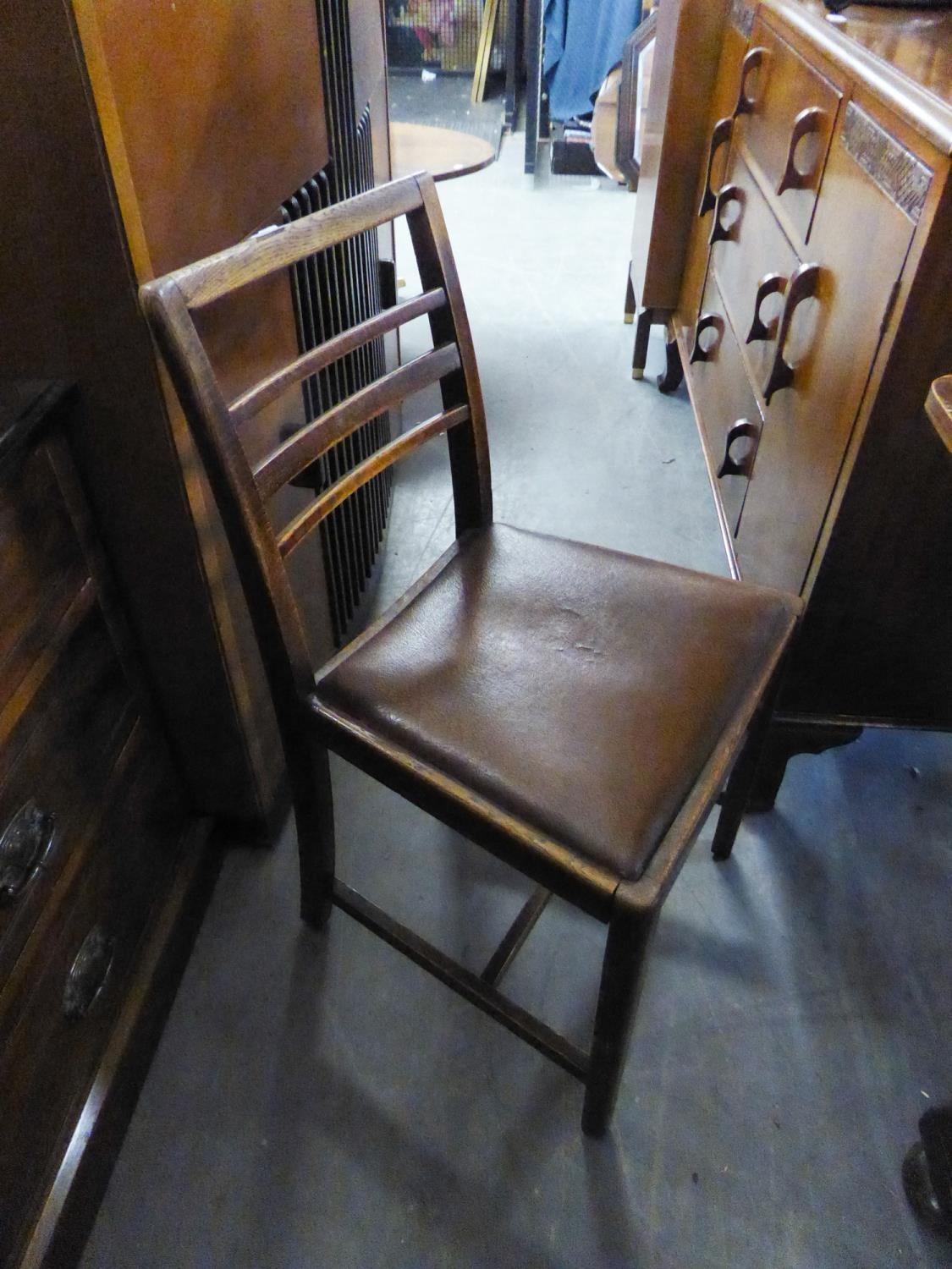 Lot 41 - A SET OF FOUR LADDER BACK SINGLE CHAIRS