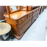 DUCAL PINE LARGE CHEST OF FOUR SHORT DRAWER AND FOUR LONG DRAWERS