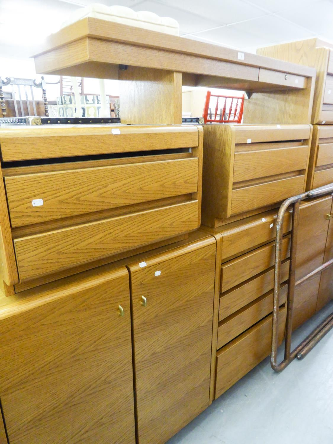 GOOD QUANITY 'MOSER' LIGHT OAK BEDROOM FURNITURE TO INCLUDE; A TWO DOOR CUPBOARD, A CORNER UNIT WITH