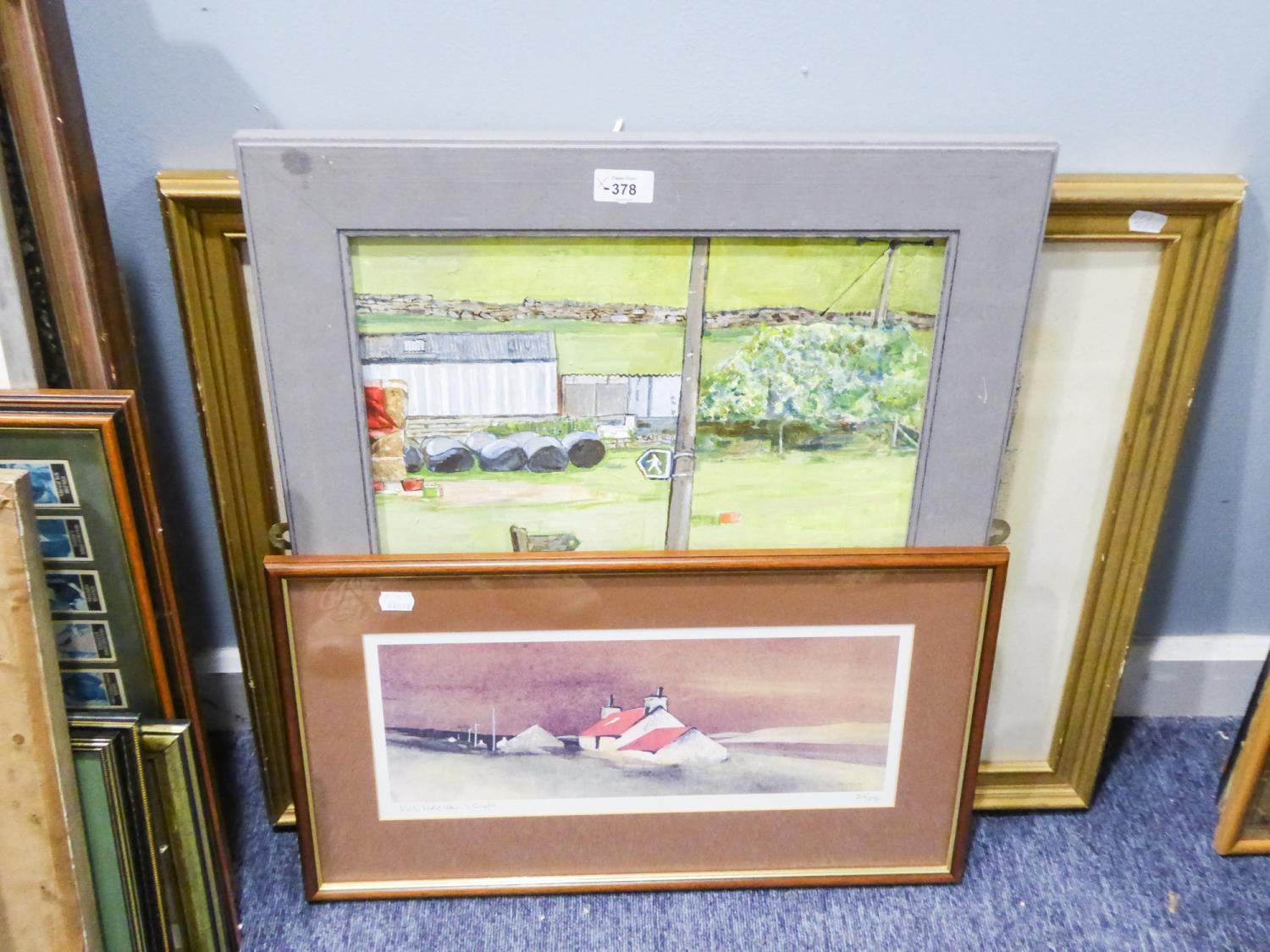 Lot 378 - QUANTITY OF PICTURES VARIOUS TO INCLUDE; IAN THOMPSON, ACRYLIC, ARTIST SIGNED LIMITED EDITION COLOUR
