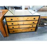 LARGE FOUR DRAWER CHEST/PLAN CHEST WITH BLACK KNOB HANDLES