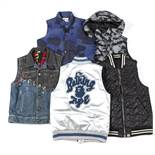 Twelve assorted gentlemen's gilet jackets, to include brands; A Bathing Ape, Neighborhood, Diesel,