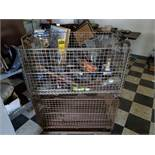 CART & (2) WIRE BASKETS W/ MISC. CONTENTS