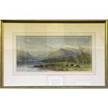 Two 19th Century framed watercolours, one by Cornelius Pearson, lake Windermere, the other by