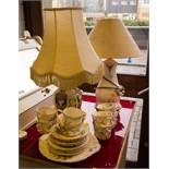 ROYAL TARA TEA SET + 2 TABLE LAMPS