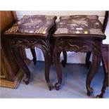 PAIR OF ORNATE TABLES