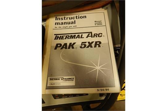 thermal dynamics thermal arc pak 5xr plasma cutter rh bidspotter com Thermal Dynamics Pak 5XT Info thermal arc pak 5xr manual