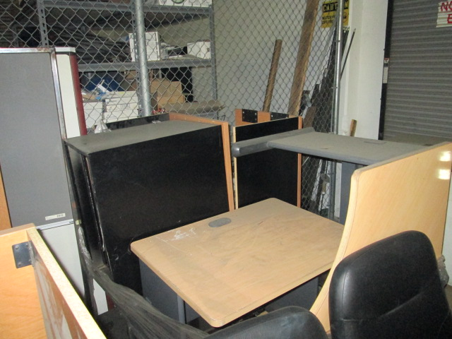 Lot 3 Pallets Assorted Desk Furniture Lot Location Warehouse Site Location Corona Ca