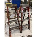 Lot Comprising (2) 4' Louisville Fiberglass Step Ladders