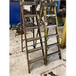 Lot Comprising (2) 6' Louisville Fiberglass Step Ladders