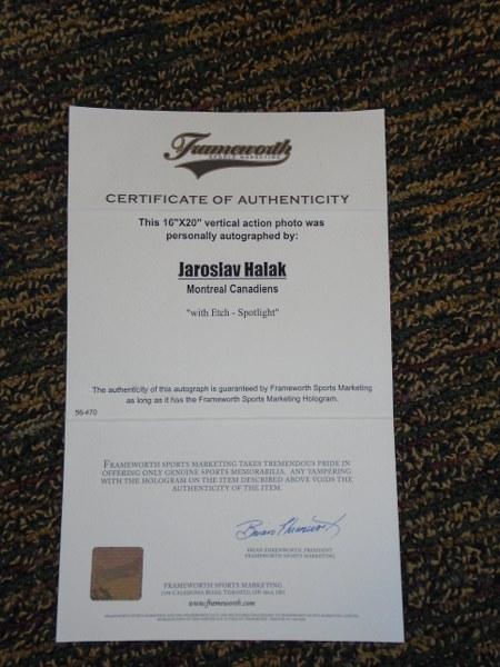 Lot 1 - Jaroslav Halak - Signed Print in frame