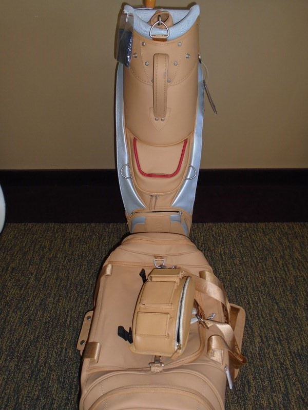 Lot 50 - Ferrari Beige Leather golf bag