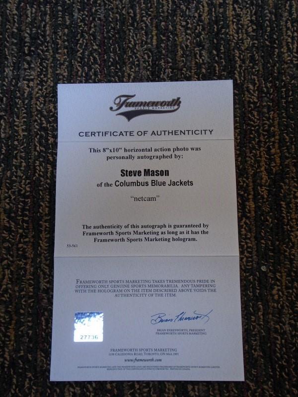 Lot 4 - Steve Mason - - Signed Print in frame