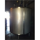 "S/S Approx. 1,000 Gallon Holding Tank, Pitched Bottom, (3)  1-1/2"" Tri Clamp Inlets, Outlets:"