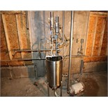 "30 Gallon SS Balance Tank With (2) WCB Air Valves, 1-1/2? 2"" Stations"