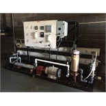 "2-Tube RO System, Approx. 9"" Tubes, 80 GPM, Equipped with Tonkaflow AS8018KB Pump, S/N 089831814,"