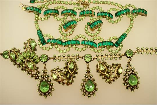 Vintage Christian Dior costume jewellery by Mitchel Maer comprising a parure of green diamantoid  sc 1 st  The Saleroom & Vintage Christian Dior costume jewellery by Mitchel Maer comprising ...