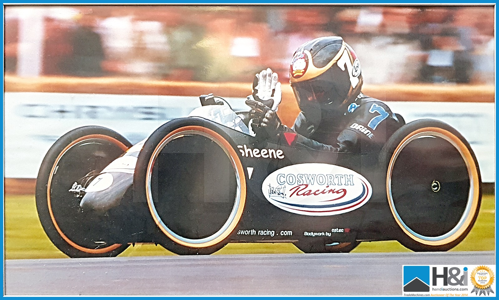 Lot 3 - Barry Sheene carbon fibre racer. The down hill racer was designed and built by a team from Cosworth